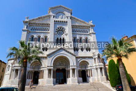 Architecture : Monaco Cathedral (Cathedrale de Monaco) in Monaco-Ville Monaco #03200