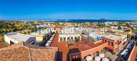 Architecture : Panoramic view of Corralejo town Fuerteventura Canary Spain #03202