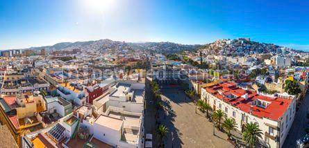 Architecture: Panoramic view of Las Palmas de Gran Canaria city Canary Spain #03204