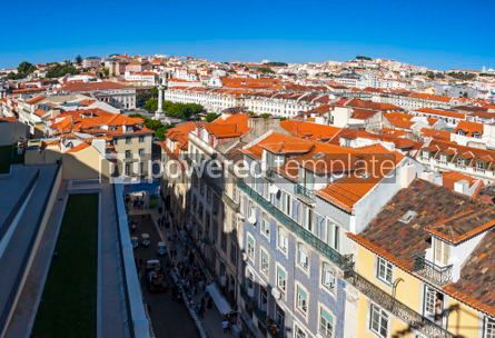 Architecture : Panoramic view of Lisbon old town Portugal #03205