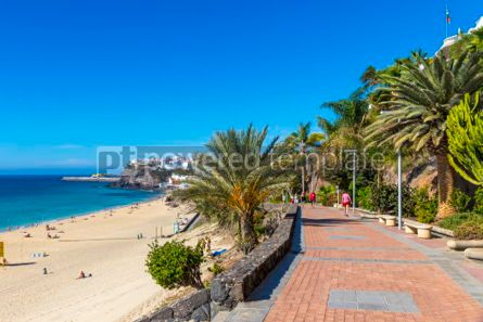 Nature: Morro Jable beach Fuerteventura island Canary Islands Spain #03210