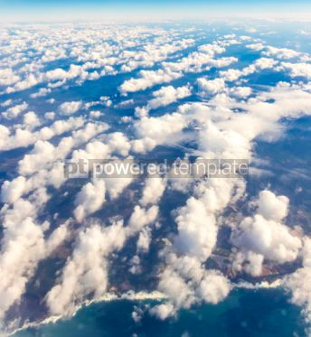 Nature: Aerial view through the airplane window #03218