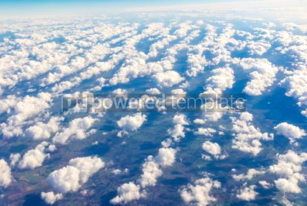Nature: Aerial view through the airplane window #03219