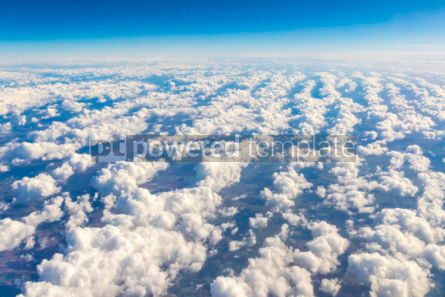 Nature: Aerial view through the airplane window #03220