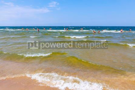 Nature: Baltic sea beach on Usedom island in Swinoujscie Poland #03239