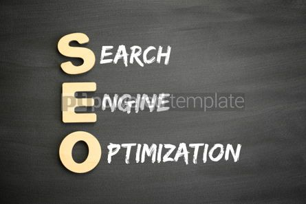 Business: Wooden alphabets building the word SEO #03281