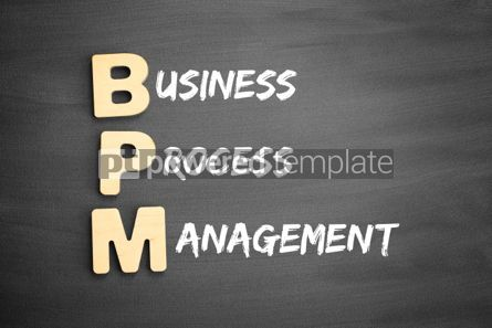Business: Wooden alphabets building the word BPM #03289