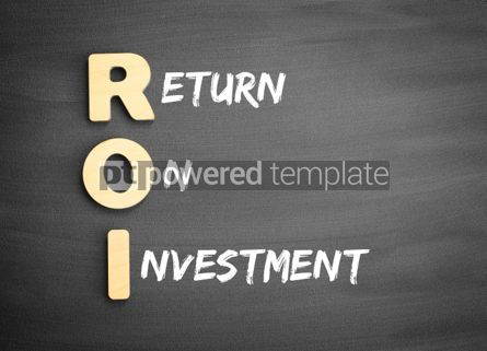 Business: Wooden alphabets building the word ROI #03290