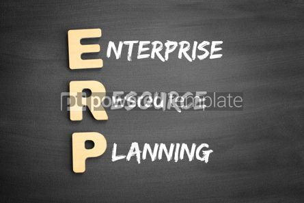 Business: Wooden alphabets building the word ERP #03291