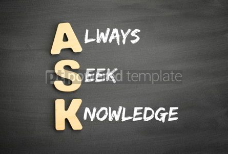 Business: Wooden alphabets building the word ASK #03292