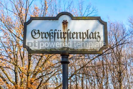 Architecture: Vintage signpost in Berlin Germany #03322