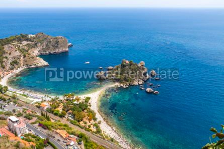 Nature: Isola Bella island and beach in Taormina Sicily Italy #03334