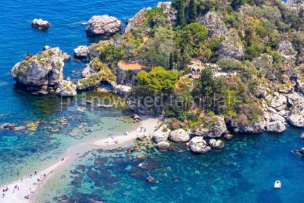 Nature: Isola Bella island and beach in Taormina Sicily Italy #03335