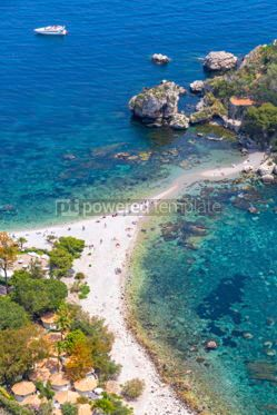 Nature: Isola Bella island and beach in Taormina Sicily Italy #03336