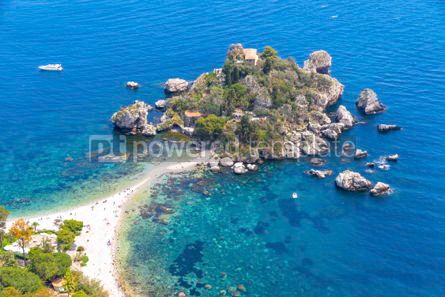 Nature: Isola Bella island and beach in Taormina Sicily Italy #03337