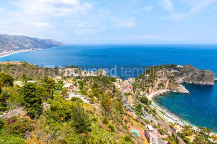 Nature: Aerial view of Ionian sea coast Sicily Italy #03338
