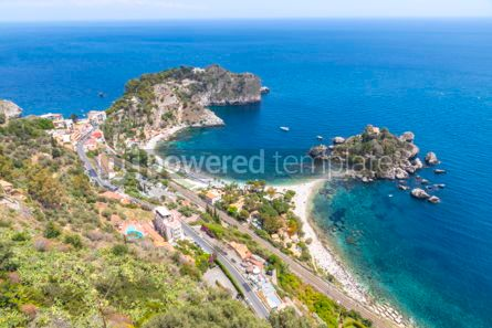 Nature: Isola Bella island and beach in Taormina Sicily Italy #03339