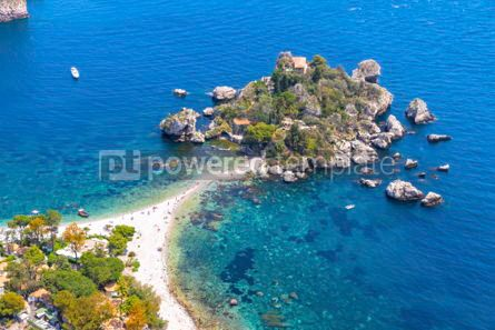 Nature: Isola Bella island and beach in Taormina Sicily Italy #03340