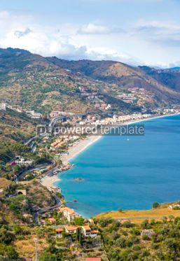 Nature: Aerial view of Ionian sea coast Sicily Italy #03341