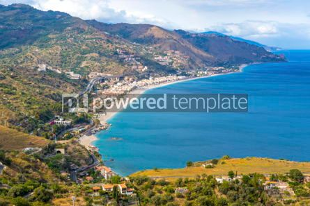 Nature: Aerial view of Ionian sea coast Sicily Italy #03342
