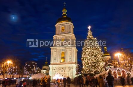 Holidays: Christmas market on Sophia Square in Kyiv Ukraine #03348