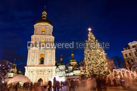 Holidays: Christmas market on Sophia Square in Kyiv Ukraine #03349