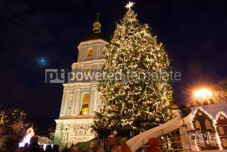 Holidays: Christmas market on Sophia Square in Kyiv Ukraine #03350