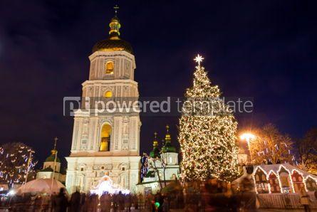 Holidays: Christmas market on Sophia Square in Kyiv Ukraine #03351