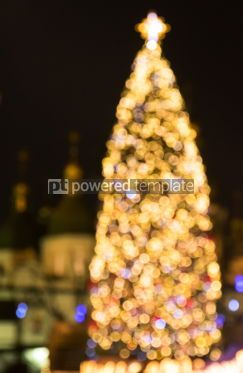 Holidays: New Year's tree made from bokeh lights #03352