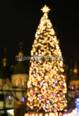 Holidays: New Year's tree made from bokeh lights #03353