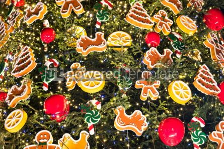 Holidays: Close up Christmass tree decoration details #03357