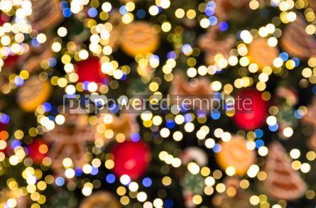 Holidays: Festive bokeh made of Christmass tree decorations #03358