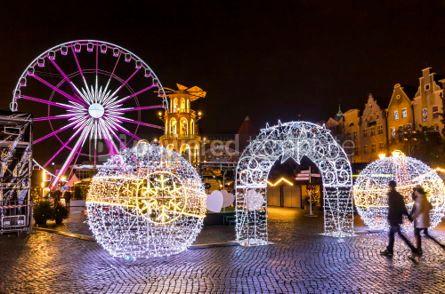 Holidays: Traditional Christmas fair on Targ Weglowy in Gdansk Poland #03360