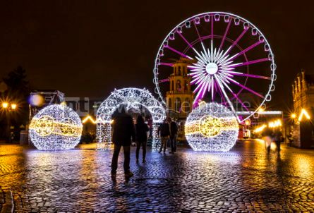 Holidays: Traditional Christmas fair on Targ Weglowy in Gdansk Poland #03363