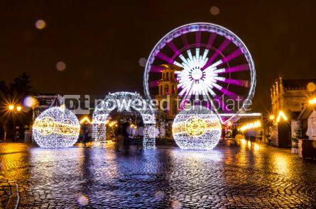 Holidays: Traditional Christmas fair on Targ Weglowy in Gdansk Poland #03364