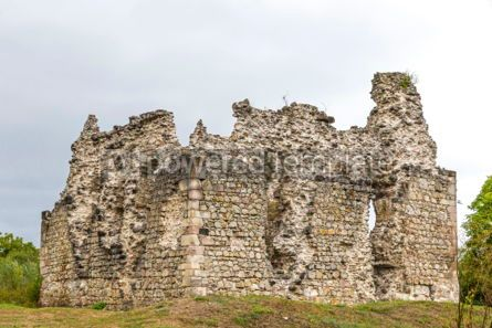 Architecture : Ruins of Medieval Castle in Seredne village Ukraine #03370