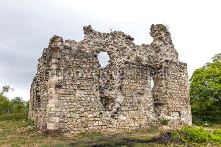 Architecture : Ruins of Medieval Castle in Seredne village Ukraine #03371