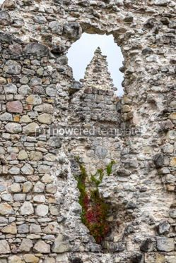 Architecture : Ruins of Medieval Castle in Seredne village Ukraine #03372