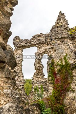 Architecture : Ruins of Medieval Castle in Seredne village Ukraine #03373