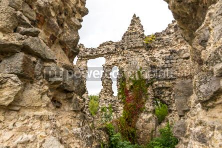 Architecture : Ruins of Medieval Castle in Seredne village Ukraine #03374