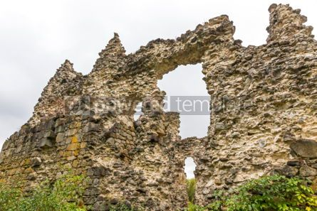 Architecture : Ruins of Medieval Castle in Seredne village Ukraine #03376