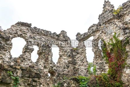 Architecture : Ruins of Medieval Castle in Seredne village Ukraine #03377