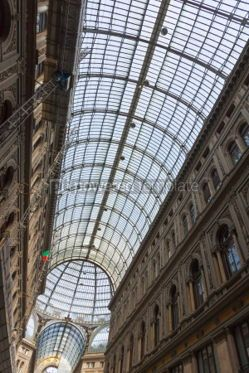 Architecture : Galleria Umberto I public shopping and art gallery in Naples I #03387