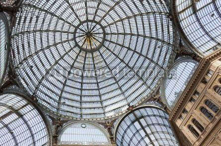 Architecture : Galleria Umberto I public shopping and art gallery in Naples I #03388