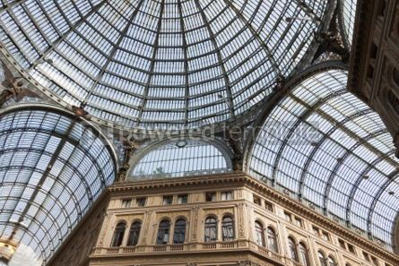 Architecture : Galleria Umberto I public shopping and art gallery in Naples I #03389
