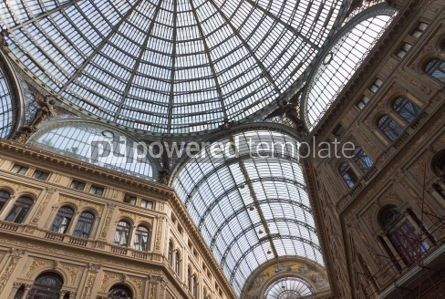 Architecture : Galleria Umberto I public shopping and art gallery in Naples I #03390