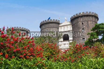 Architecture : Medieval castle of Maschio Angioino or Castel Nuovo in Naples I #03391