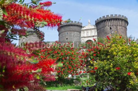 Architecture : Medieval castle of Maschio Angioino or Castel Nuovo in Naples I #03392