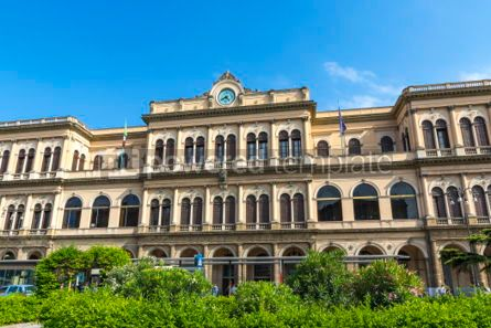 Architecture : Palermo Centrale main railway station of Palermo Sicily Italy #03395