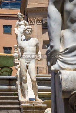 Architecture : Praetorian Fountain (Fontana Pretoria) in Palermo Sicily Italy #03397